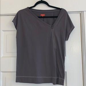 Madewell High Line Zip Front T-Shirt